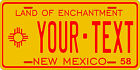 New Mexico 1958 License Plate Personalized Custom Auto Bike Motorcycle Moped