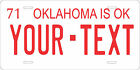 Oklahoma 1971 License Plate Personalized Custom Auto Bike Motorcycle Moped