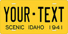 Idaho 1941 License Plate Personalized Custom Auto Bike Motorcycle Moped Key Tag
