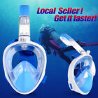 US Full Face Snorkel Mask Easy Breath Diving Swim Underwater For GoPro Camera