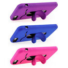 iPhone 6 Plus Card Holder Kickstand Case, Pink, Blue or Purple Skin on Hardcover