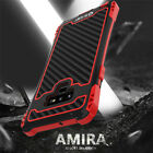 R-JUST Waterproof Metal Carbon Fiber Case Cover For Samsung Galaxy S10 Note 10+