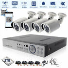 4CH DVR 1080P 2.4MP CCTV Camera Day SMD Night Vision Home Security System Kit