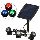 Outdoor RGB LED Solar Power Light Path Yard Landscape Garden Fence Lamp US Stock