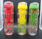 Personalised 800ml Fruit Infusion Infuser Drink Water Bottle Red Yellow or Green