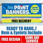 CUSTOME SIZE PVC Banners Outdoor Vinyl Banner || Free Delivery