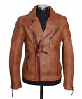 Mens WOLVERINE TAN Movie Inspired Real Soft Lambskin Nappa Biker Jacket