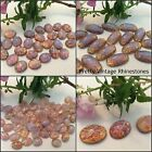 Vintage Oval Flatback Cabochon Pink Opal Harlequin CRAFT Size Options