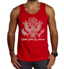 New United States Seal Men's Tank Top Red T Shirt American Pride USA America US image