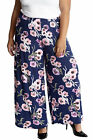 New Ladies Trouser Plus Size Womens Palazzo Floral Print Pants Wide Leg Nouvelle