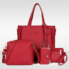 4pcs Women PU Leather Handbag Shoulder Bag Tote Purse Messenger Satchel Clutch