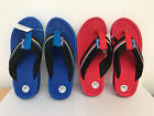 CHILDRENS JAYWALKER PERRANPORTH FLIP FLOPS RED BLUE