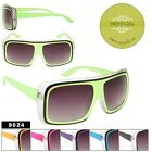 Retro Asst Colors Large Square Frame Sun Glasses 100% UV Protection Men  Women