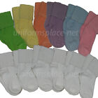 12 Pairs Girls Socks Cotton Blend Bobby Cuff Down Sport Athletic Socks