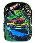 "HOT WHEELS MATTEL Boys 16"" Full-Size Backpack w/ Optional Insulated Lunch Box"