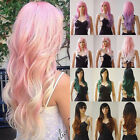 Pink and White Hair Ombre Wig Natural Heat Resistant Synthetic Hair Costume Wig