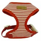 DOG HARNESS TEACUP XS PUPPY CAT CHIHUAHUA TINY YORKIE XS XXS RED STRIPY