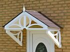 Door canopy with White Althorp frame - 3 tile colour choices