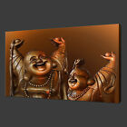 HAPPY LAUGHING BUDDHA ETHNIC MODERN WALL ART CANVAS PRINT PICTURE READY TO HANG