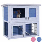 "Lovupet 32"" Wooden Rabbit Hutch Small Animal House/Pet Cage/Chicken Coop"