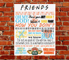 Friends TV Show Quotes METAL Wall SIGN Birthday Gift Present