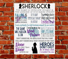 Sherlock TV Show Quotes METAL SIGN Birthday Gift Present