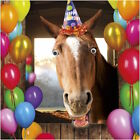 GOGGLIES 3D MOVING EYES FUNNY HORSE WITH PARTY HAT BIRTHDAY GREETING CARD 1STP&P
