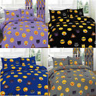 Emoji Duvet Cover Set Emotion Panda Expression Cat Bed Sheets Graphic Pillowcase