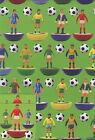 FOOTBALL FIGURES GIFT WRAP 2 SHEET WITH 2 MATCHING TAGS ANY OCCASION *1ST P&P