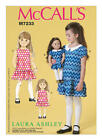 "M7233 McCall's Paper Sewing Pattern Girl's 2-8, 18"" Doll Pullover Ashley Dresses"
