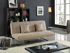 Banksy 2 Seater Fabric Sofa Bed And Chaise lounge in Light Brown Grey