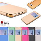 White Luxury PU Leather Wallet Cover Flip Phone Case For Samsung Galaxy S6