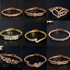 1 Pc Woman Elegant Rose Gold/Gold Plated Crystal Bangle Bracelet Jewelry 9Styles