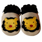 Free shipping Newborn Prewalker Soft Sole Leather Baby Shoes Lion Beige 0-5years