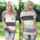 Fashion Women Summer Loose Short Sleeve Tops Blouse Ladies Casual Tops T-Shirt