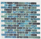 Crystiles Peel and Stick Self Adhesive Vinyl Wall Tiles Blue Green Black Decorat