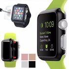 Metal Slim Bumper Case + Tempered Glass Guard For iWatch Apple Watch 38mm/42mm