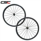 700C Carbon Road Cycling Wheel 23mm Width 38mm Clincher Alloy Braking Surface