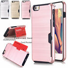Credit Card Slot Wallet Shockproof Case Holder Tough Cover For iPhone 6 7 8 Plus