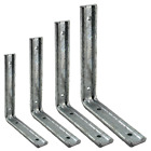 Heavy Duty Fluted Shelf Bracket Galvanised Steel Strong Shelving Angle Support