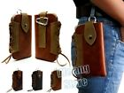 Cool CowBoy PU Leather Belt Holster Pouch Sleeve Bag Case For Cell Phone +Buckle