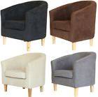 New Linen Fabric Tub Chair Armchair Living Room Office Free Delivery