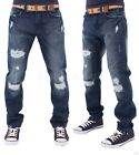 Peviani Mens Boys Frayed Ripped Star Jeans Hip G Hop Club Wear Arzno Time Money
