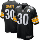 Mens Pittsburgh Steelers James Conner stitched Black Game Jersey