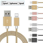 Heavy Duty Metal Braided USB Fast Charger Data Sync Cable For iPhone 6 6s 7 Plus