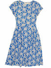 NEW SEASALT BLUE FLORAL RIVIERA SUMMER TEA DRESS 8 to 18 RRP £45