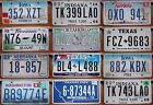 £3.99 rough condition AMERICAN LICENSE PLATE various states Texas Iowa #lot13