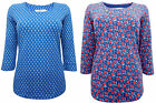 SEASALT blue organic cotton jersey Cousin Jinny Top choice of 2 prints