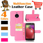 Leather Wallet Stand Card Pouch Folio Flip LSP Case Cover For Moto Motorola E4