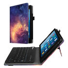 For Amazon Fire HD 8 7th /6th Folio Keyboard Case Stand Cover Magnetic Bluetooth